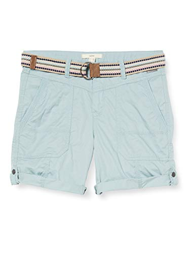 ESPRIT Damen 040EE1C343 Shorts, 390/LIGHT Aqua Green, 38