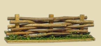 Unbekannt Krippenzubehör, Weidenzaun, Zaun, Länge 14cm