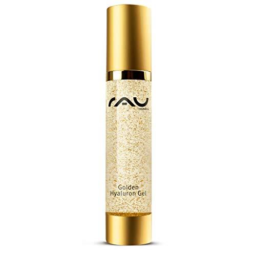 RAU Golden Hyaluron Gel 50 ml - Anti Aging Gel mit 23kt Gold Falten Weg Soforteffekt, Feuchtigkeit