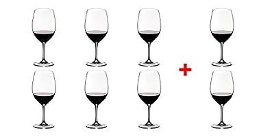 Riedel VINUM Bordeaux/Merlot/Cabernet Wine Glasses, Pay for 6 get 8 - 7416/0