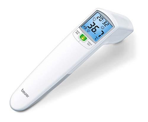 Beurer FT 100 Termometro senza Contatto a Raggi Infrarossi per Temperatura Corporea, Ambientale e degli Oggetti