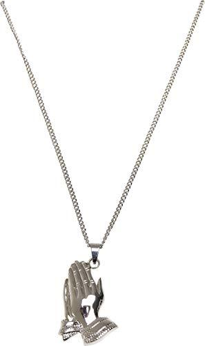 Urban Classics Unisex Pray Hands Necklace Manschettenknöpfe, silver, one size