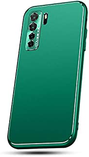 "MOONCASE ケース E Huawei Nova 7 SE、高級マットメッキハードPCケースカメラ保護 用の傷防止耐衝撃保護カバー Huawei Nova 7 SE 6.5"" - 緑"