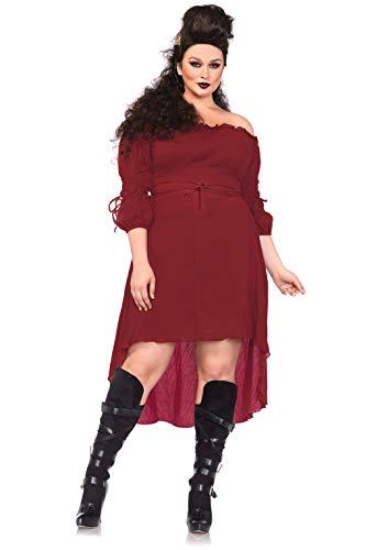 Leg Avenue- Pistolero Mujer, Color borgoña, Talla Plus 3X/4X (EUR 52-56) (2700X09036) , color/modelo surtido