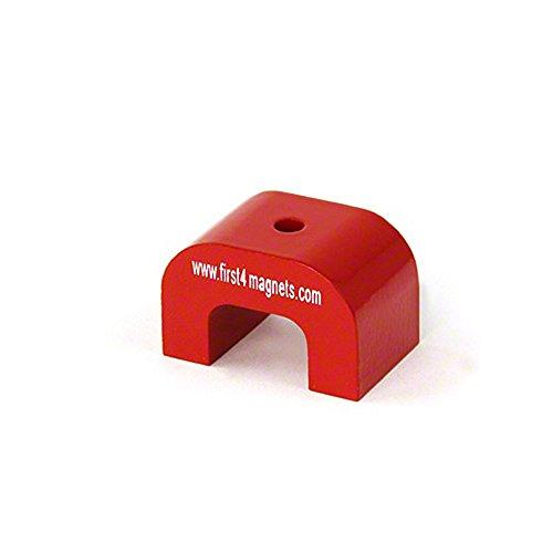 Magnet Expert Moyenne rouge Alnico en fer à cheval Aimant - Pull 9 kg (40 x 25 x 25 mm trou de 4.5 mm) (Pack de 1)