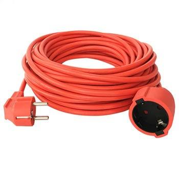 Cable alargador de 50 m Schuko IP44, cable de alimentación para jardín V13