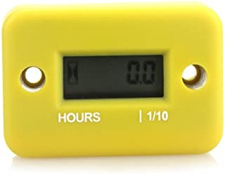 Docooler Inductive Hour Meter for Marine ATV Motorcycle Dirt Ski Waterproof (Yellow)