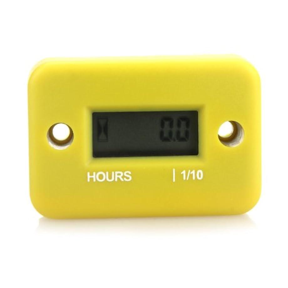 Docooler? Inductive Hour Meter for Marine ATV Motorcycle Dirt Ski Waterproof (Yellow)