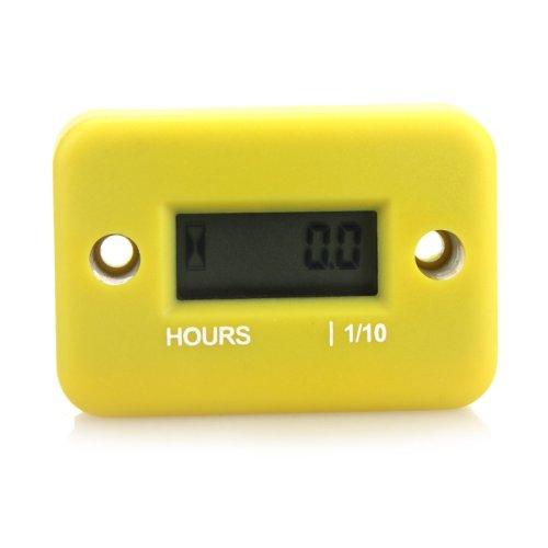 Docooler Inductive Hour Meter for Marine ATV Motorcycle Dirt Ski Waterproof (Yellow)