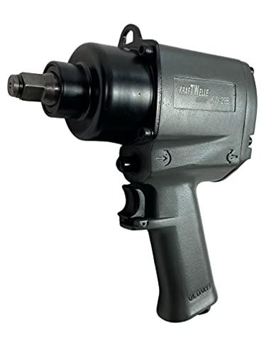 Kraftwelle Atornillador de impacto de aire comprimido de 1/2 pulgadas, 1400 Nm, par de apriete, incluye boquilla de 9 mm - 28 mm, para taller de coches