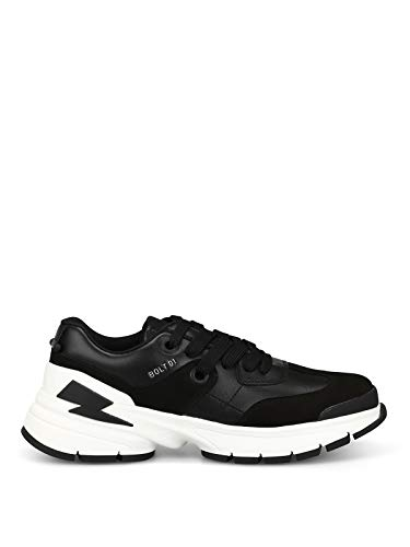 Neil Barrett Men's City Sneaker Black/White 41 M EU