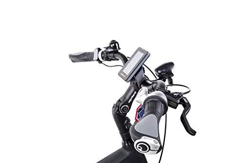 31f6sNVM JL - 28 Zoll Fahrrad TechniBike E Bike Pedelec Riemen N330 Nu Vinci Continental Mittelmotor grau grün Gr.S