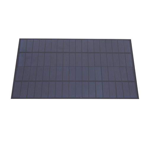 SALUTUYA Panel de energía Solar de silicio policristalino Panel Solar con Cable Silicio policristalino portátil 5W 18V para Luces publicitarias