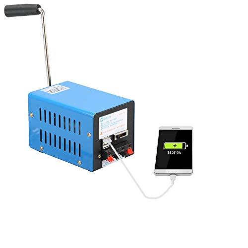 Generador de manivela manual likeitwell, 20 W 2000 rpm manual, generador de manivela portátil de alto rendimiento USB para comunicación de emergencia, turismo, corriente de emergencia