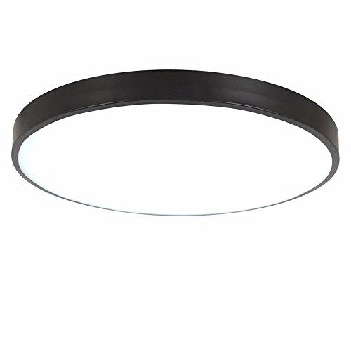 PANNN Runde Deckenlampe Ultra-dünne LED Deckenleuchte Modern Einfachheit Pendelleuchte Stärke 5 cm Kinder Deckenlampe für Wohnzimmer Schlafzimmer Kinderzimmer Restaurant, schwarz, 60cm weißes Licht