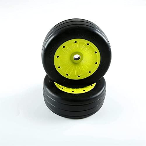 LUOERPI 2 Piezas para Rovan RC Car Repuestos 1/5 LT Camión Neumáticos Piezas Slick Juego de neumáticos También Apto para Baja 4WD / SLT 970492 Repuestos (Color: Amarillo) ( Color : Yellow )