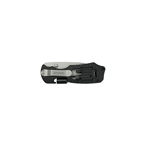 Kershaw Select Fire (1920); Multifunction Pocketknife with 3.4-Inch 8Cr13MoV Stainless Steel Blade, Black Glass-Filled Nylon Handle, 1/4-Inch Hex Drive, 2 Flathead Bits and 2 Crosshead Bits; 5 oz.