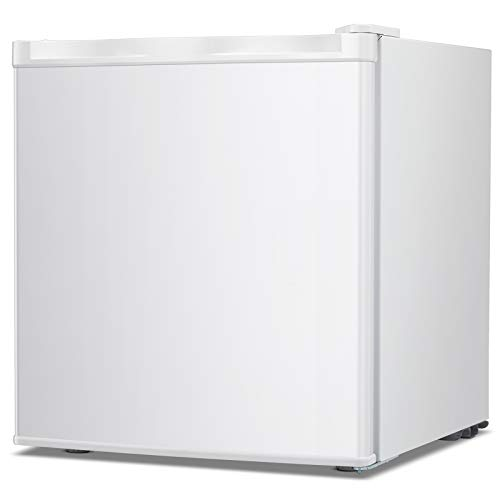 TAVATA Compact Upright Freezer with Reversible Single Door,Removable Shelves Free Standing Mini Freezer with Adjustable Thermostat for Home/Kitchen/Office