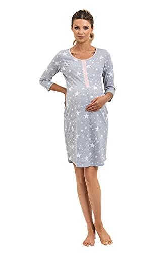 Mon Amie, camisón de Maternidad, Ropa de Lactancia, Embarazo y la Lactancia, fácil de Lavar, 100% algodón Star