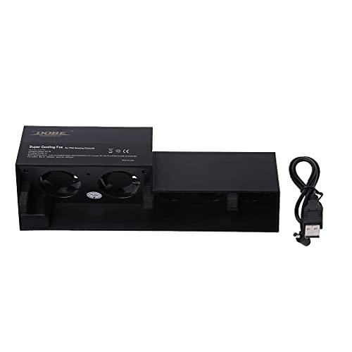 bfh Ventilador de refrigeración USB con Control de Temperatura Turbo Externo Consola 4 PS4, Ventilador USB, Ventilador de Ordenador, Ventilador de refrigeración, Ventilador de PC