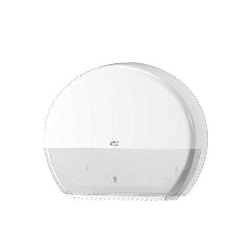 Tork 554000 Spender für Jumbo Toilettenpapier T1 / Tork Toilettenpapierspender mit extra hoher Kapazität in Weiß