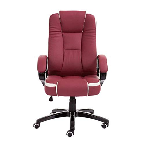 FKB Chair Computer Chair Home Office Reclining Racing Chair Height Adjustable Ergonomic High Back Game Chair Swivel Chair Suitable For Internet Cafe Study Executive Chair,Wine Red
