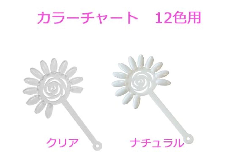 逃れる動的講堂【新入荷!】花型カラーチャート 【定形外発送】 (クリア)