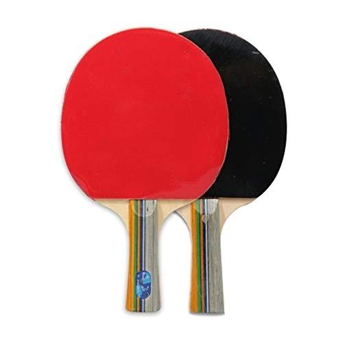 Vobajf Juego de raquetas de ping-pong de goma para tenis de mesa, juego de raqueta de tenis de mesa, soporte horizontal y vertical, agarre opcional para agitar las manos (color rojo, tamaño: L)