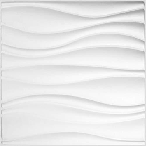 WallArt 24x Paneles de Pared 3D con Ondas Decoración y Recubrimiento Paredes...