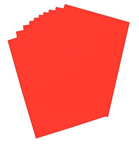 folia 65926 - Plakatkarton, ca. 48 x 68 cm, 10 Bögen, 380 g/qm, einseitig leuchthellrot gefärbt - ideal zum Basteln oder Erstellen von Plakaten und Anzeigen