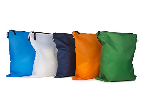 kiezels - organizer per valigia o zaino - 5 x L - 5 colore