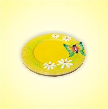 Keramikteller gelb 15 cm 1 Stück