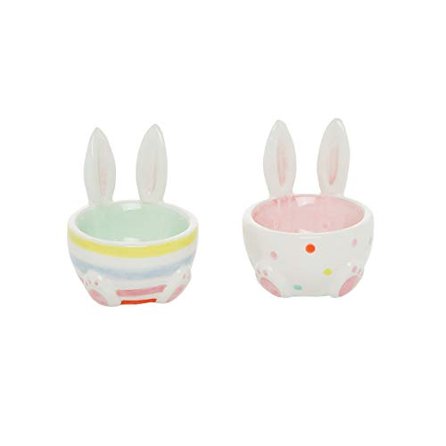 C&F Home Easter Bunny Rabbit Spring Egg Cup, A/2 White