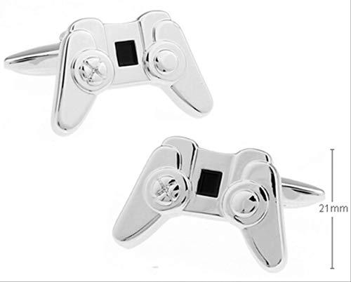 XKSWZD Manschettenknöpfe Joystick-Manschettenknöpfe Hochwertiges Gamepad-Design aus Kupfer