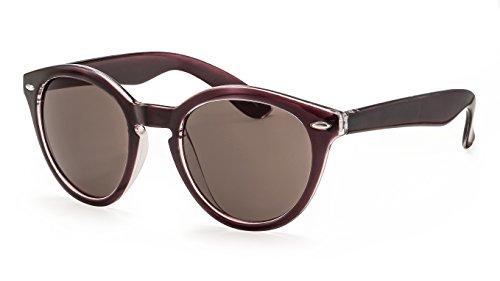 Filtral Runde Damen Sonnenbrille/Große Sonnenbrille im Pantostil mit Schlüssellochsteg und Zierpins F3024408
