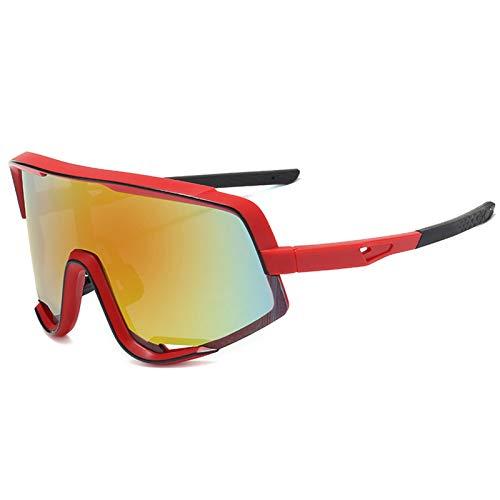 BAFEYU Gafas de Sol de Bicicleta Gafas de esquí Gafas de Ciclismo polarizadas Gafas de Bicicleta para Hombres Mujeres Conducción Rectangular