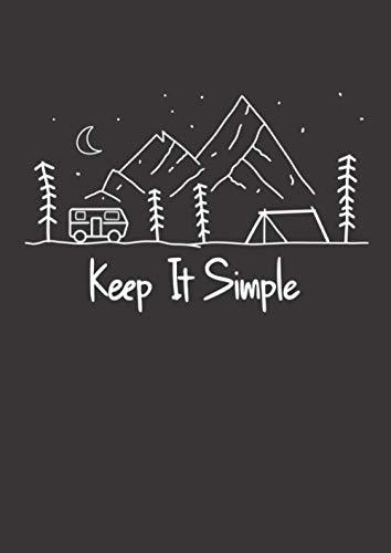 Notizbuch A4 liniert mit Softcover Design: Keep it simple Campingbus und Zelt in der Natur Vanlife: 120 linierte DIN A4 Seiten