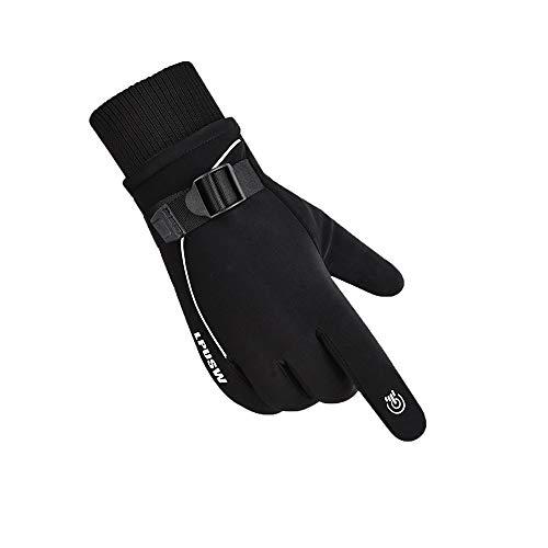 XVXFZEG Guantes de bicicletas Espesados los hombres, pantalla táctil antideslizante invierno, además de terciopelo guantes calientes, fríos y guantes impermeables al aire libre, usados para el cic