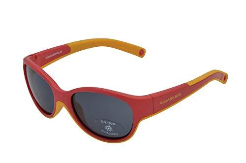 Gamswild GAMSKIDS WK7421 - Gafas de sol para niños de 2 a 5 años, color verde menta, rosa, rojo y naranja