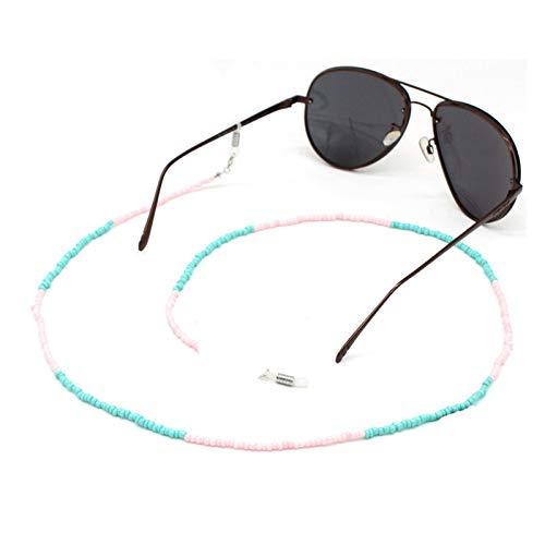 DZJUKD Práctico Vidrio Multicolor Cadena de anteojos con Cuentas Gafas de Sol Gafas de Lectura Cordón de Gafas de Gafas Cordones de Mujer Accesorios para Mujeres Mayores (Color : Style 7)