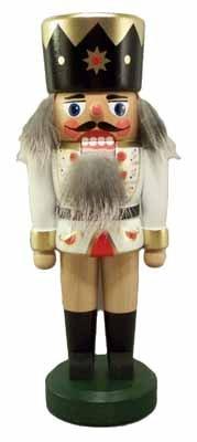 Nussknacker König weiß 21cm NEU Nußknacker Holz Figur Erzgebirge