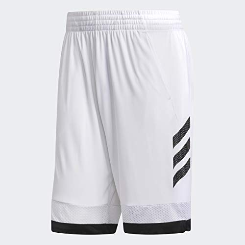 adidas Pro Bounce Short Mens Basketball L White-Black