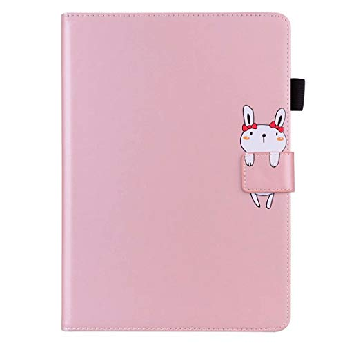 Case for iPad Pro 11 2020 & 2018 Case, Premium Slim PU Leather Cartoon Animal Folio Tablet Case Smart Cover Shockproof Multi-Stand with Auto Wake/Sleep Back Protective Cover Shell Rose gold