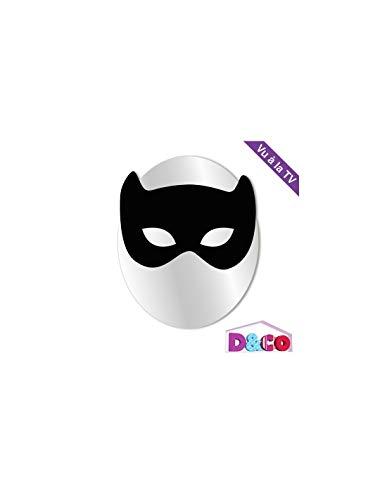 DECOLOOPIO - Miroir Enfant Masque de Chat Noir - Format : 19 x 24 cm - Miroir En Plaque Acrylique Épaisseur de 3mm - Decoration Murale Pour Chambre D'Enfants