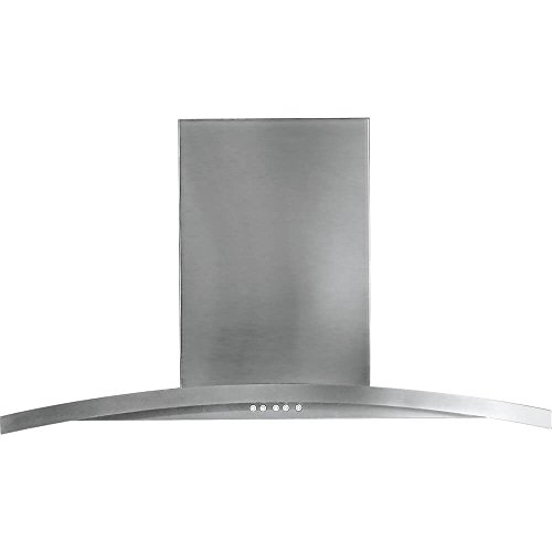 "GE PV976NSS Profile 36"" Stainless Steel Chimney Style Wall Mount Range Hood"