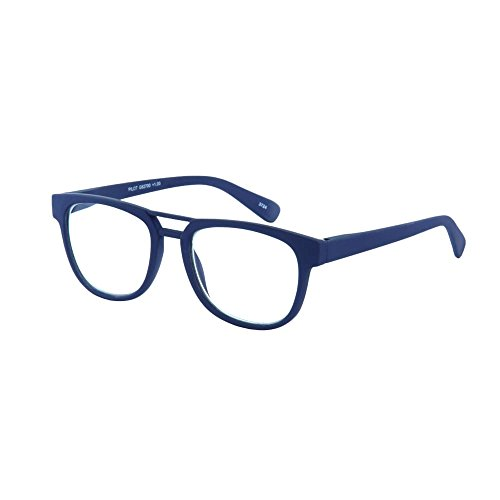 Leesbril Piloten-Blau-Sph +1,00