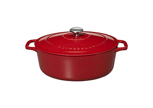 Chasseur Cast Iron, Casserole 7.1 L Rot Oval Chasseur Cast Iron Casserole