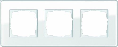 Gira 0213512 Abdeckrahmen 3 Fach Esprit Glas C, weiß