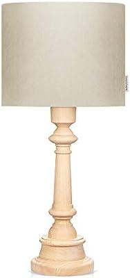 LAMPS & COMPANY 5901122223214 Lampe sur pied, PVC, Coton, Bois, Marron