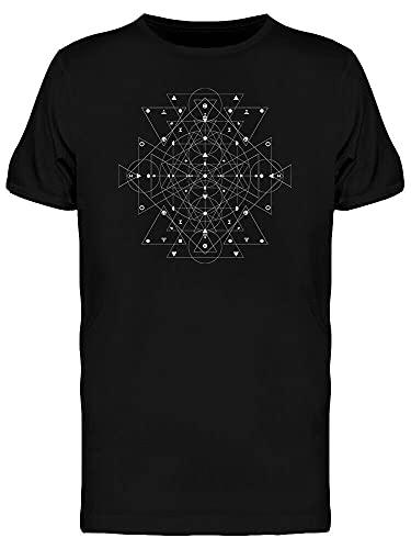 Sacred Geometry Dark Night Logo Men's Tee Black L